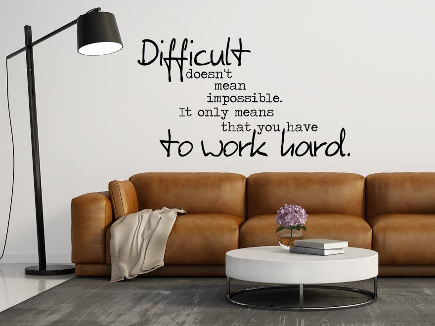englisches wandtattoo difficult von. Black Bedroom Furniture Sets. Home Design Ideas
