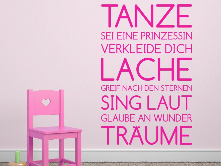 wandtattoo spruchbanner m dchen von. Black Bedroom Furniture Sets. Home Design Ideas