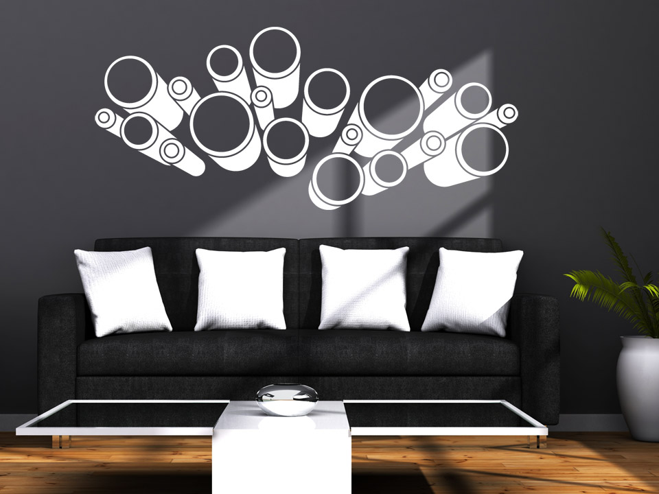 3d wandtattoo 3d kreise motiv von. Black Bedroom Furniture Sets. Home Design Ideas