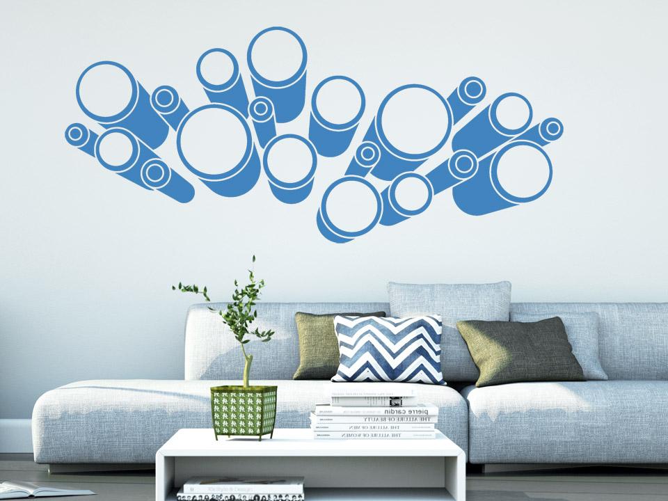 3d wandtattoo 3d kreise motiv von. Black Bedroom Furniture Sets. Home Design Ideas