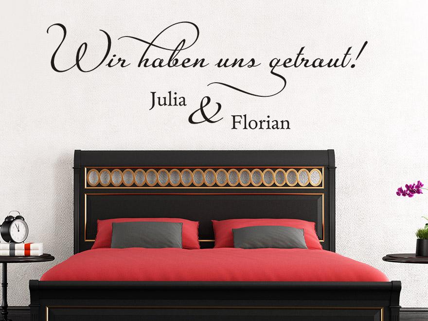 hochzeit wandtattoo wir haben uns getraut von. Black Bedroom Furniture Sets. Home Design Ideas