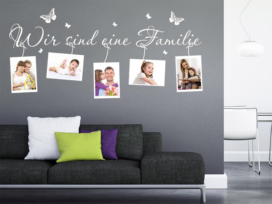 Foto Wandtattoo Wir Sind Eine Familie Von Wandtattoo Net