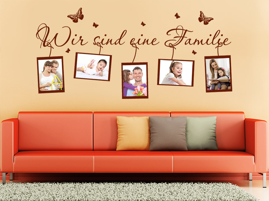 foto wandtattoo wir sind eine familie von. Black Bedroom Furniture Sets. Home Design Ideas