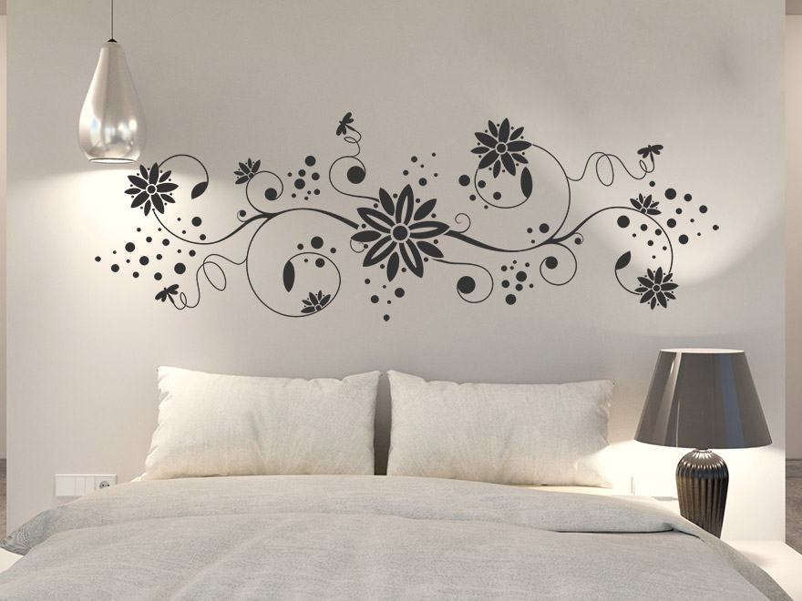 wandtattoo ornament mit libellen von. Black Bedroom Furniture Sets. Home Design Ideas