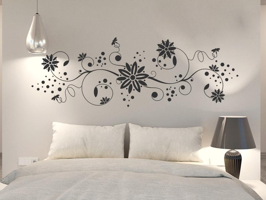 Wandtattoo ornament mit libellen von for Wandtattoo schlafzimmer