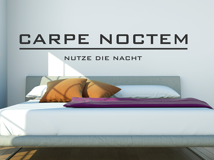 wandtattoo carpe noctem nutze die nacht von. Black Bedroom Furniture Sets. Home Design Ideas