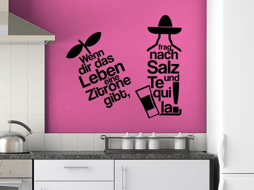 Lustiges Küchen Wandtattoo Tequila von Wandtattoo.net