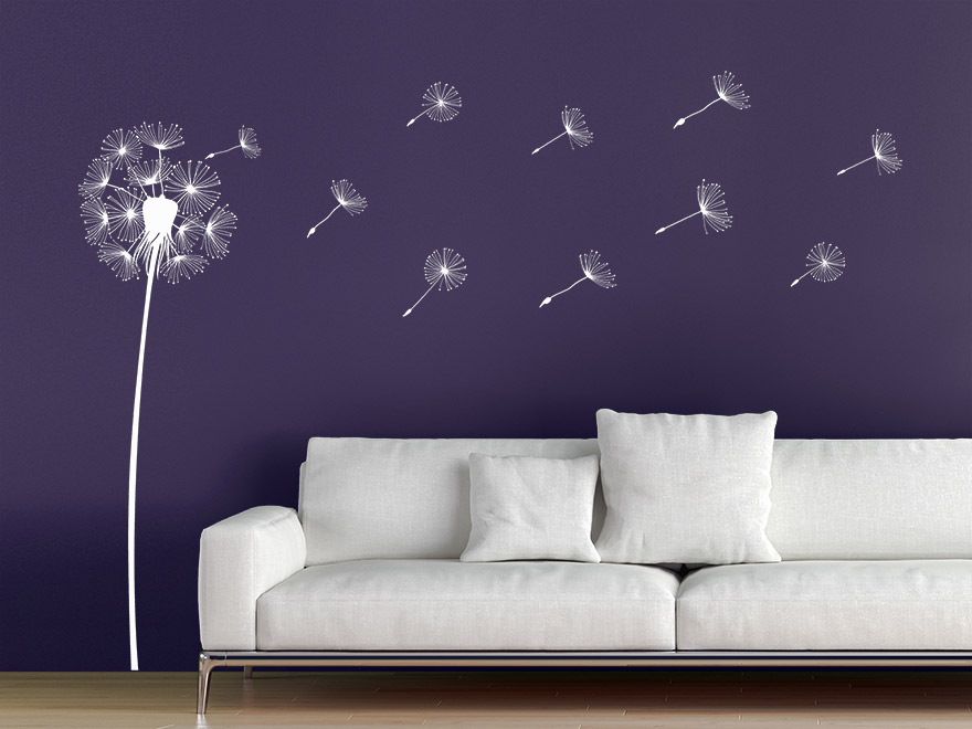 wandtattoo pusteblume mit samen von. Black Bedroom Furniture Sets. Home Design Ideas