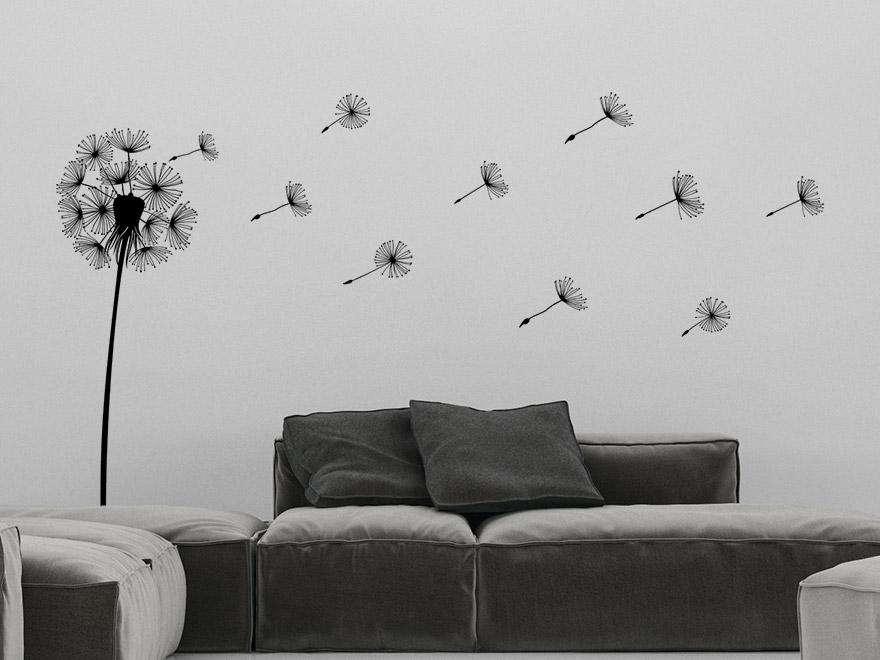 wandtattoo pusteblume mit samen von. Black Bedroom Furniture Sets. Home Design Ideas