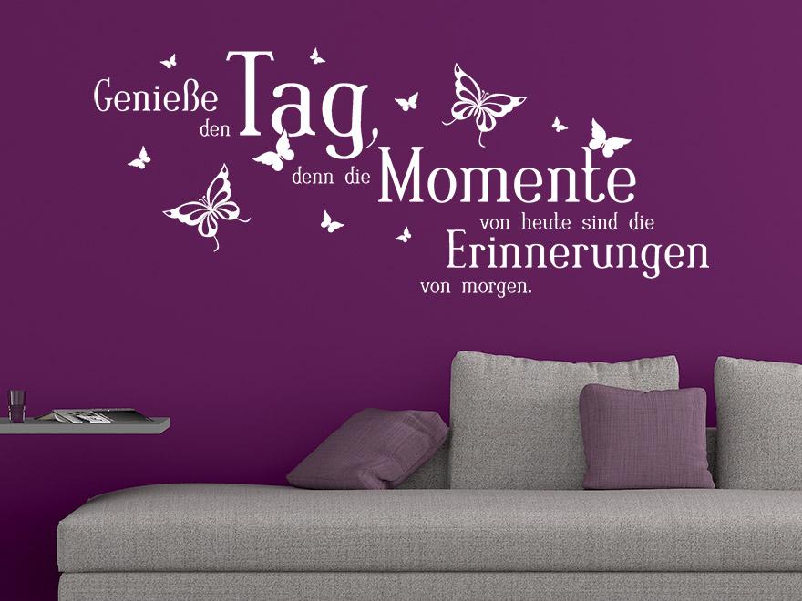 Wandtattoo Spruch Genieße den Tag ... von Wandtattoo.net