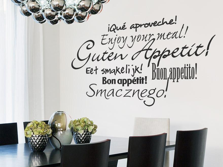 Berühmt Wandtattoo Küche Guten Appetit Ideen - Innenarchitektur ...