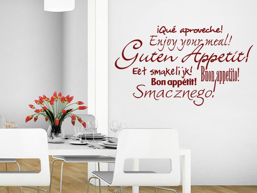 Wandtattoo Küche Guten Appetit ~ Home Design Ideen