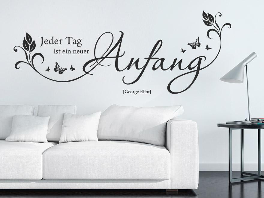 wandtattoo ein neuer anfang von. Black Bedroom Furniture Sets. Home Design Ideas