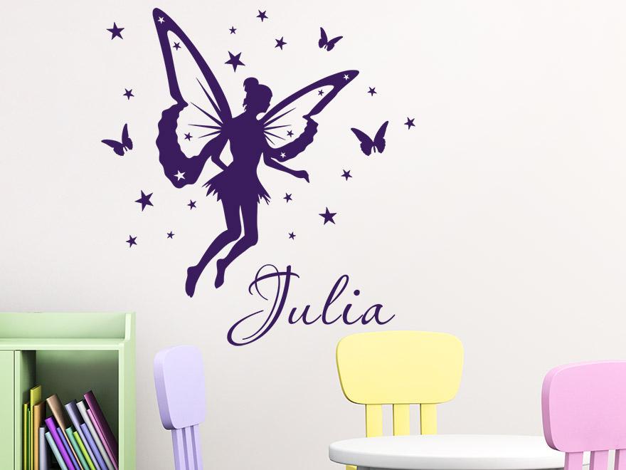 wandtattoo zauberfee mit name von. Black Bedroom Furniture Sets. Home Design Ideas