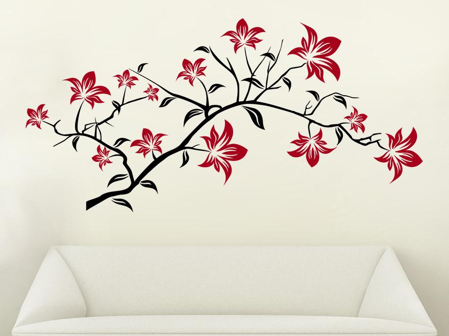 wandtattoo ast mit bl ten von. Black Bedroom Furniture Sets. Home Design Ideas