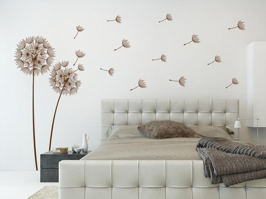wandtattoo verspielte pusteblumen von. Black Bedroom Furniture Sets. Home Design Ideas