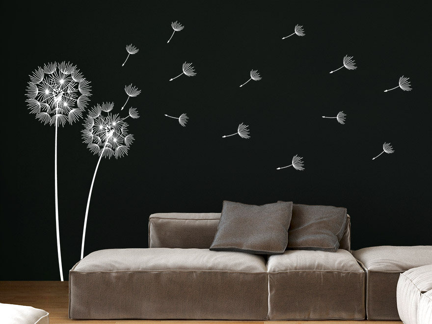 wandtattoo pusteblume wei reuniecollegenoetsele. Black Bedroom Furniture Sets. Home Design Ideas