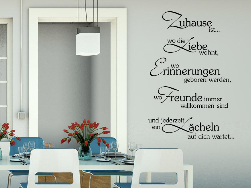 wandtattoo esszimmer spruch reuniecollegenoetsele. Black Bedroom Furniture Sets. Home Design Ideas