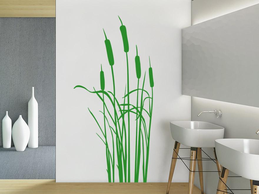 gr ser wandtattoo schilf von. Black Bedroom Furniture Sets. Home Design Ideas
