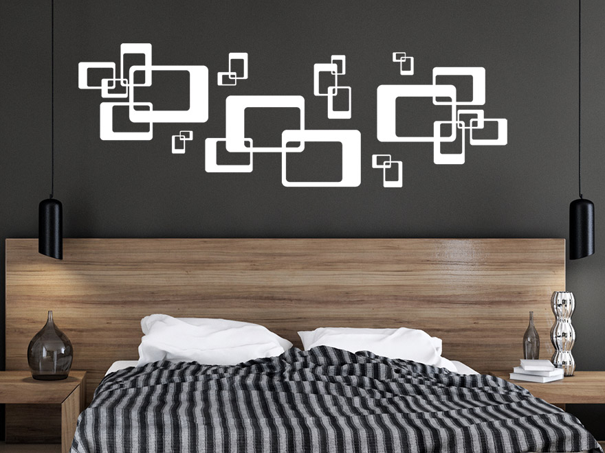wandtattoo ornament cubes von. Black Bedroom Furniture Sets. Home Design Ideas