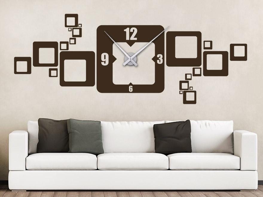 wandtattoo quadrat uhr von. Black Bedroom Furniture Sets. Home Design Ideas