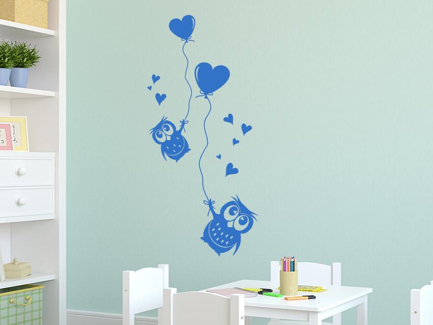 ... Süße Wandtattoo Eulen Mit Luftballons