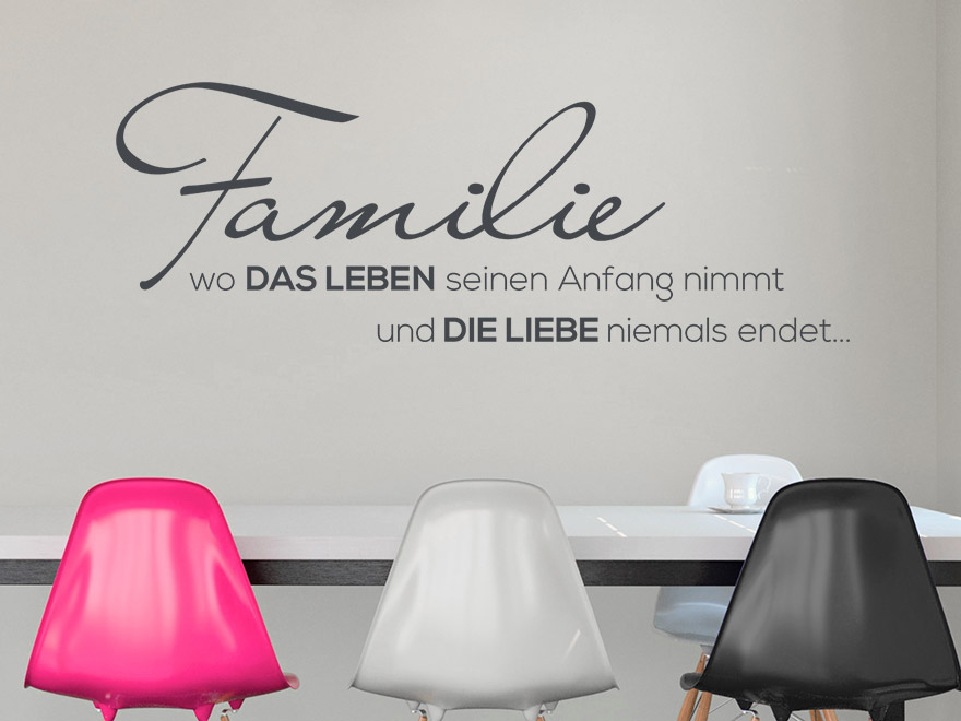 wandtattoo familienleben von. Black Bedroom Furniture Sets. Home Design Ideas
