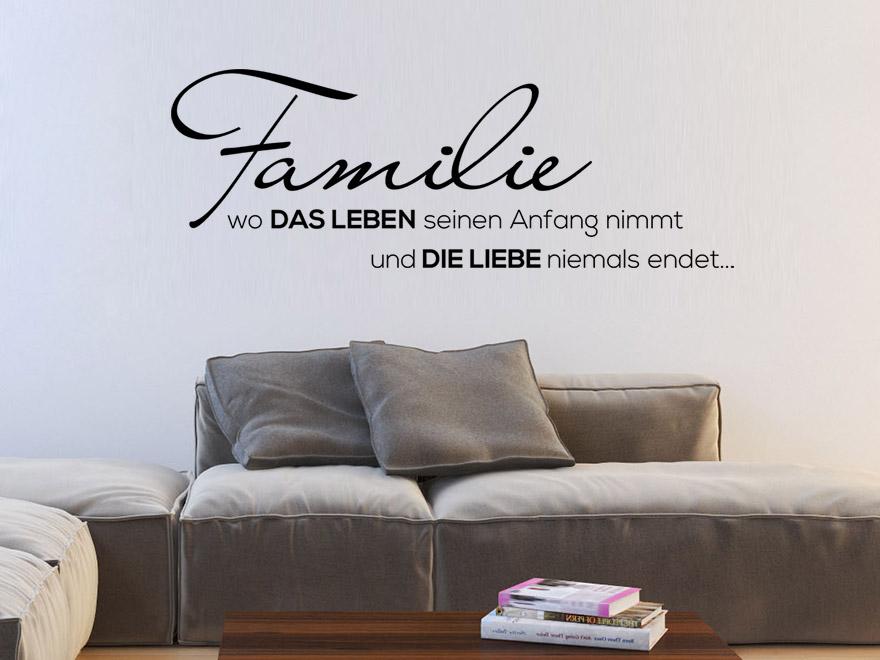 Wandtattoo Familienleben von wandtattoo.net