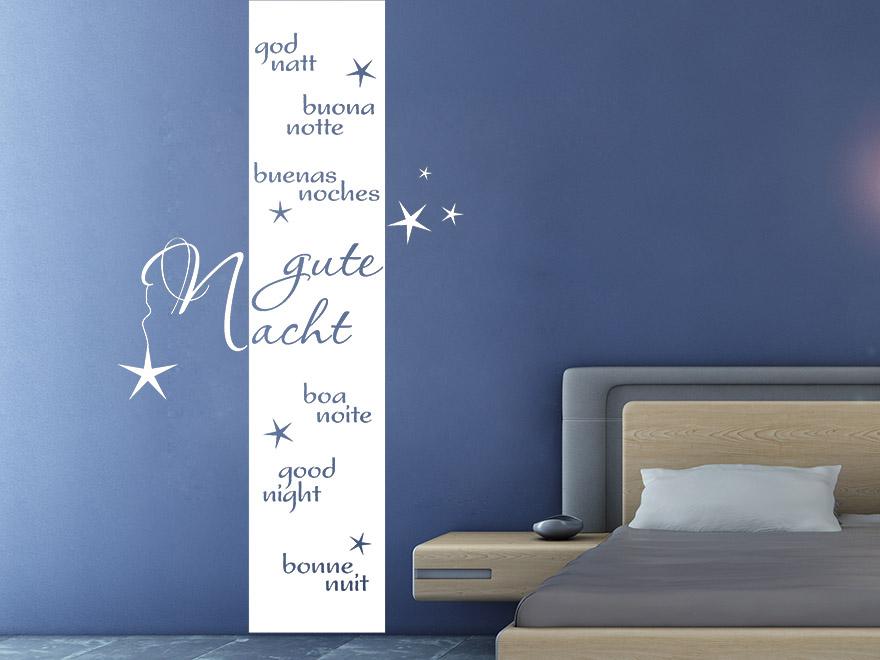 wandtattoo banner gute nacht von. Black Bedroom Furniture Sets. Home Design Ideas
