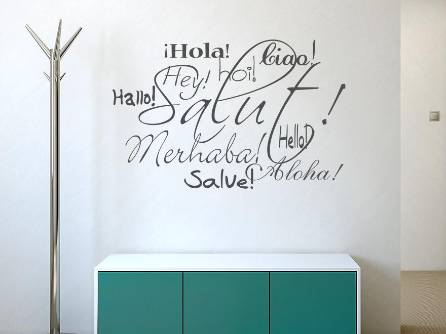 wandtattoo salut von. Black Bedroom Furniture Sets. Home Design Ideas