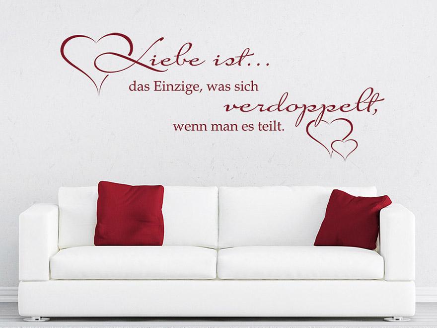 wandtattoo liebe ist das einzige von. Black Bedroom Furniture Sets. Home Design Ideas