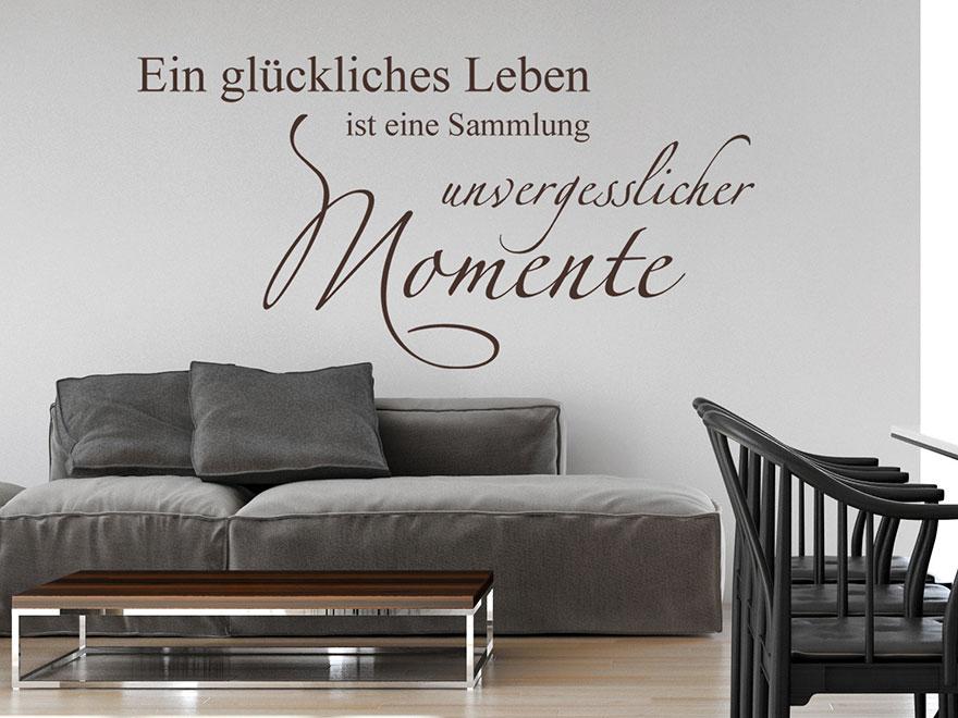 Wandtattoo Eine Sammlung Unvergesslicher Momente Dekoratives Momente Spruch  Wandtattoo Im Wohnzimmer ...