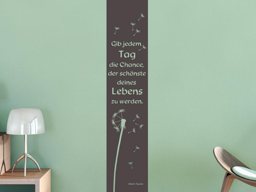 wandtattoo banner der sch nste tag von. Black Bedroom Furniture Sets. Home Design Ideas