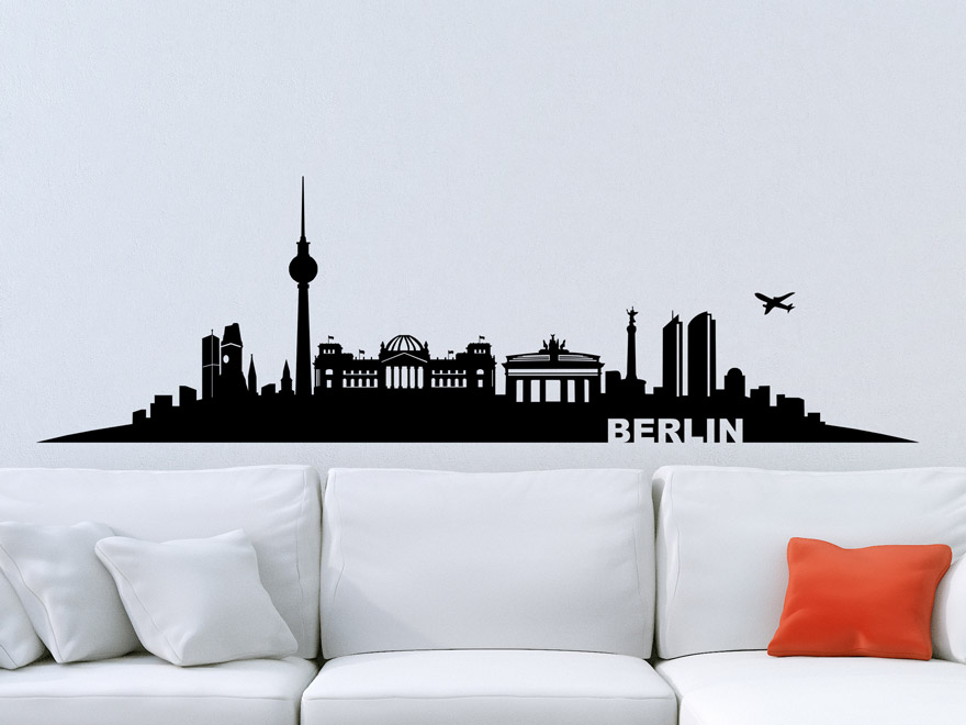 wandtattoo skyline berlin von. Black Bedroom Furniture Sets. Home Design Ideas