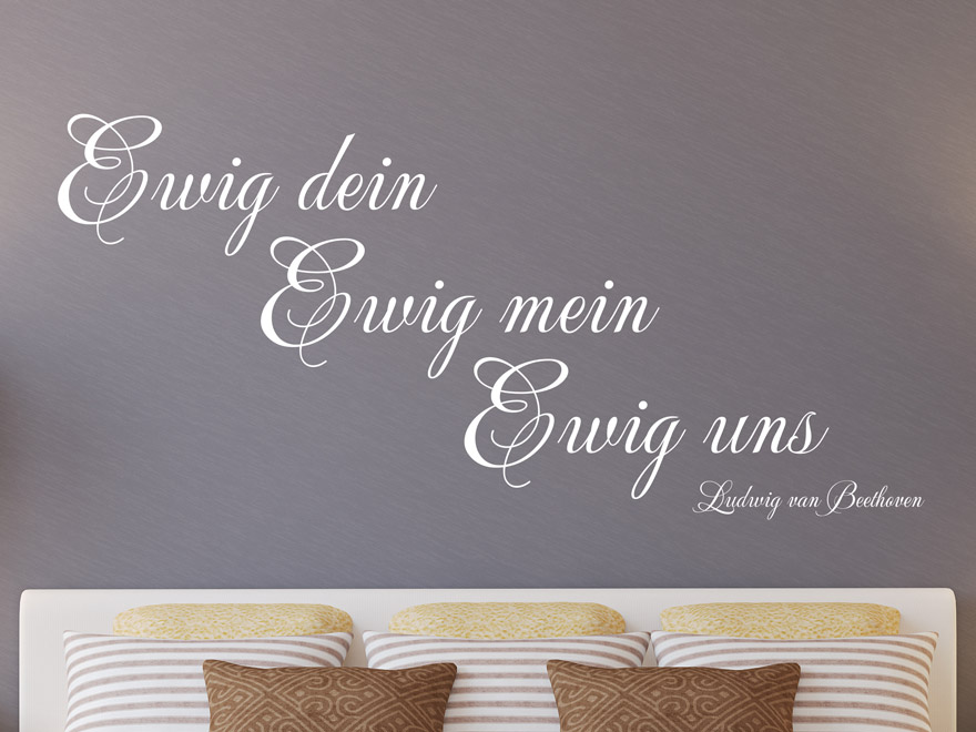 wandtattoo zitat ewig mein von. Black Bedroom Furniture Sets. Home Design Ideas