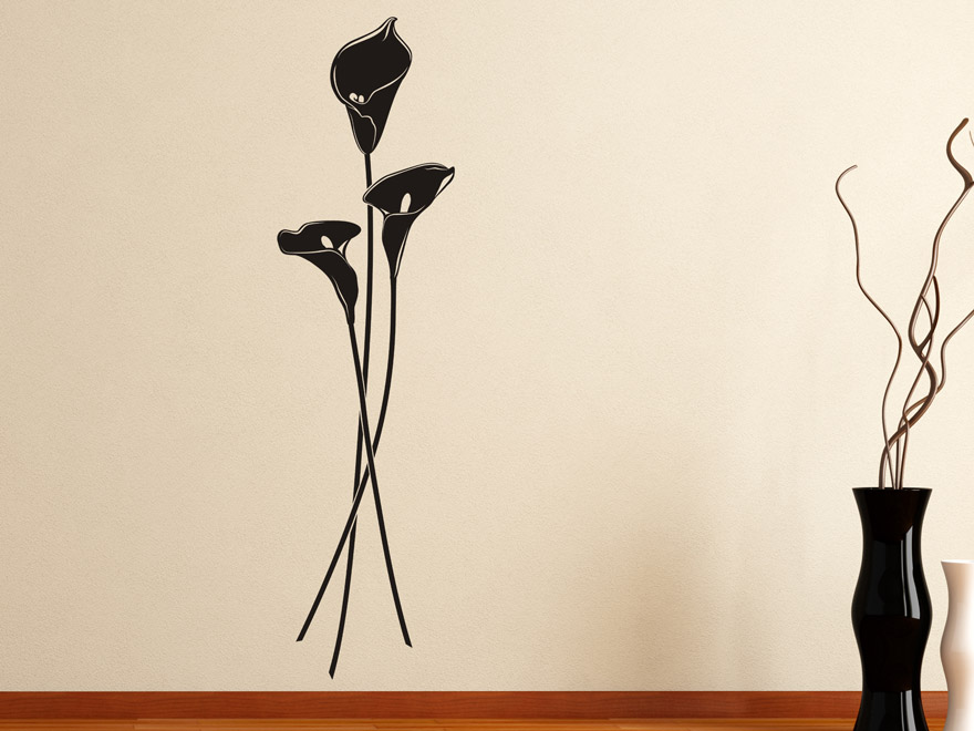 wandtattoo calla blumen von. Black Bedroom Furniture Sets. Home Design Ideas