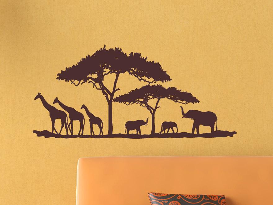 Wandtattoo Landschaft in Afrika von Wandtattoo.net