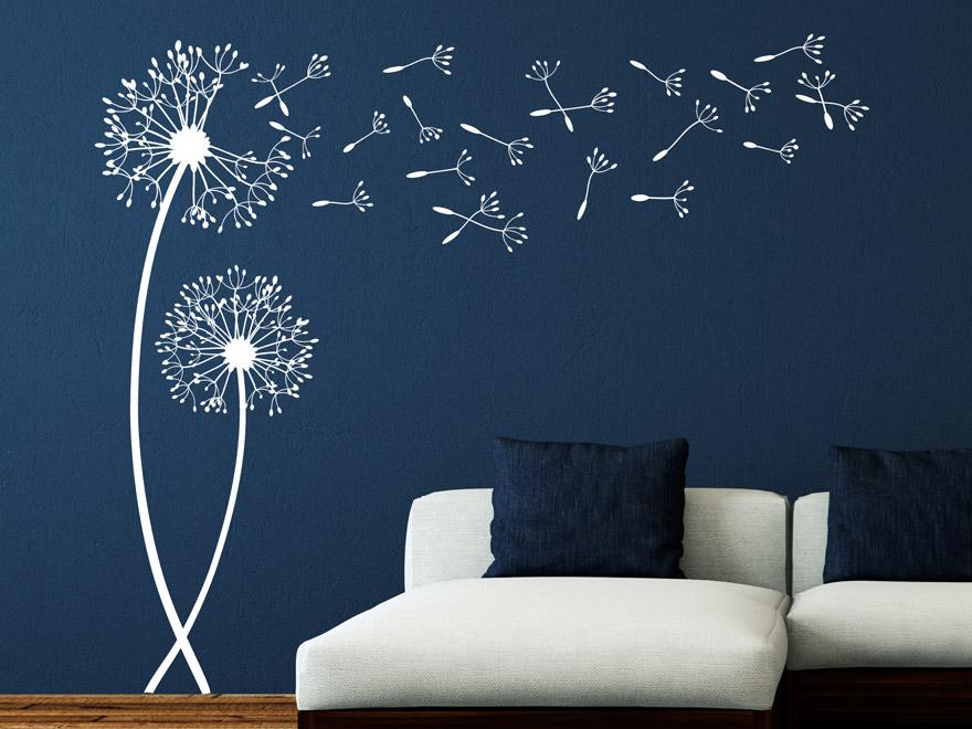 wandtattoo pusteblume frischer wind mit pusteblumen. Black Bedroom Furniture Sets. Home Design Ideas