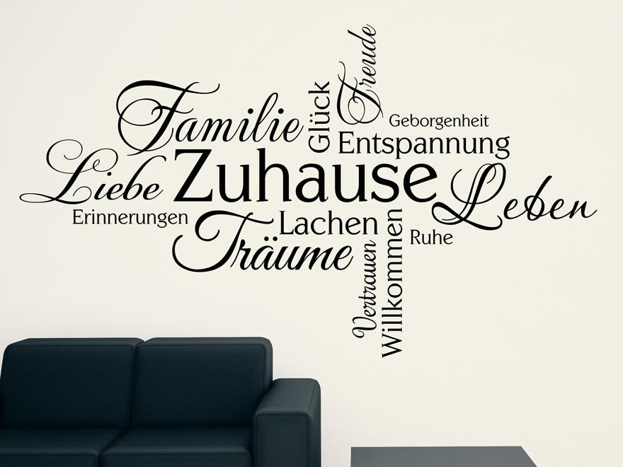 Wandtattoo wortwolke zuhause von - Wandtattoo family ...