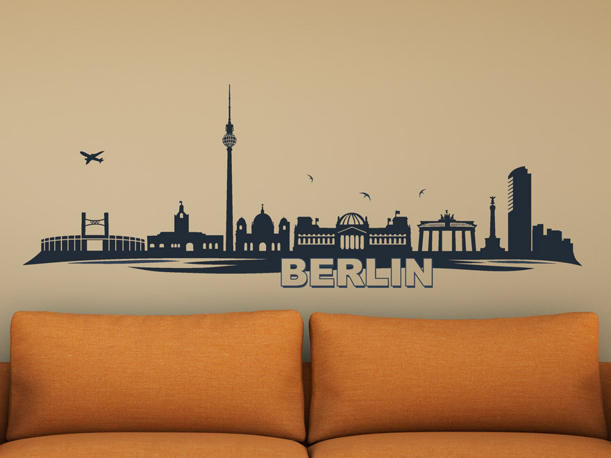 wandtattoo panorama berlin von. Black Bedroom Furniture Sets. Home Design Ideas