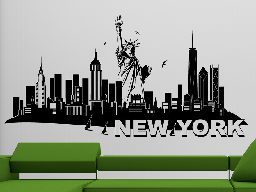 Marvelous Wandtattoo Von New York