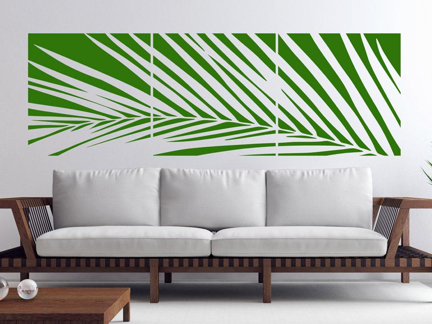wandtattoo palmwedel banner von. Black Bedroom Furniture Sets. Home Design Ideas