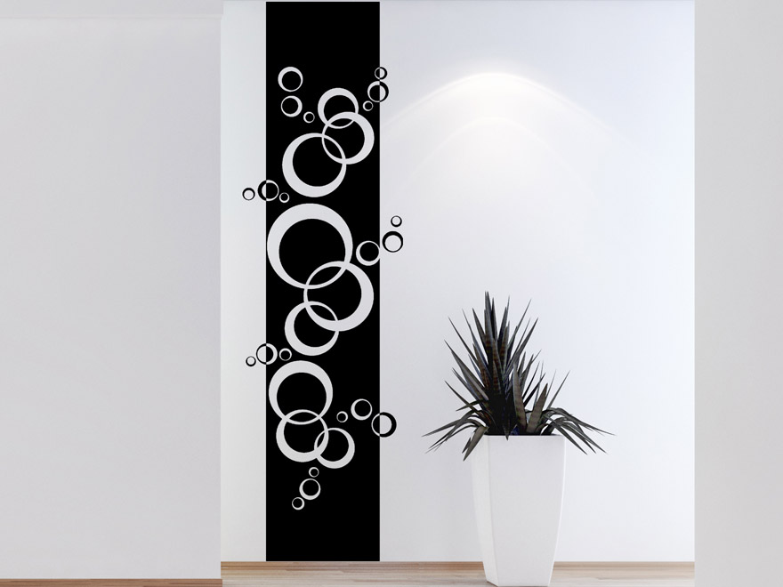 wandtattoo banner kreise im retro stil von. Black Bedroom Furniture Sets. Home Design Ideas