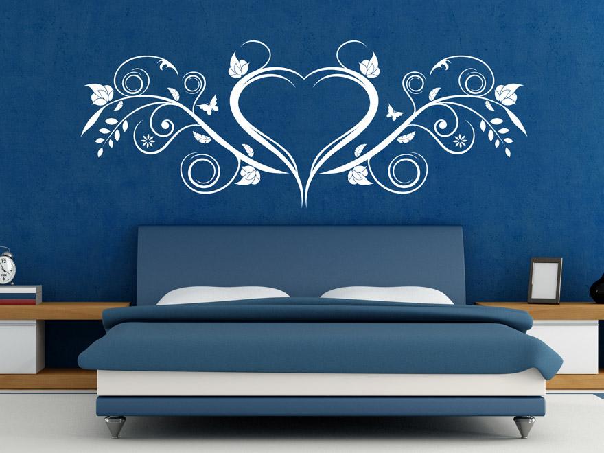 wandtattoo ornament mit herz von. Black Bedroom Furniture Sets. Home Design Ideas