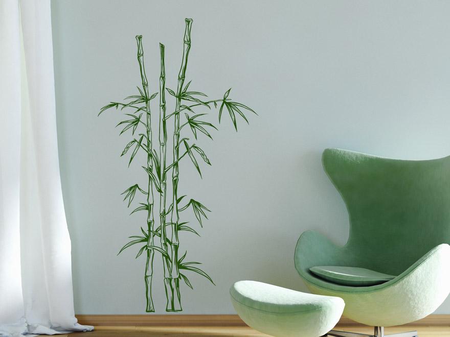 Wandtattoo Dekorativer Bambus Von Wandtattoonet  U003e Wandtattoo Badezimmer  Bambus