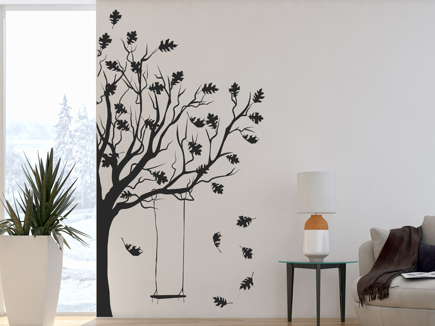 wandtattoo baum im herbst von. Black Bedroom Furniture Sets. Home Design Ideas