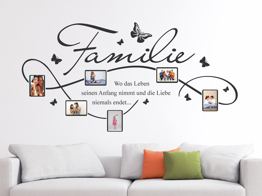 wandtattoo fotorahmen familie von. Black Bedroom Furniture Sets. Home Design Ideas
