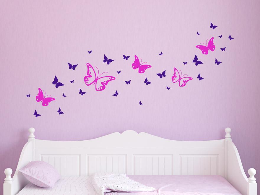 Wandtattoo Zweifarbige Schmetterlinge von Wandtattoo.net