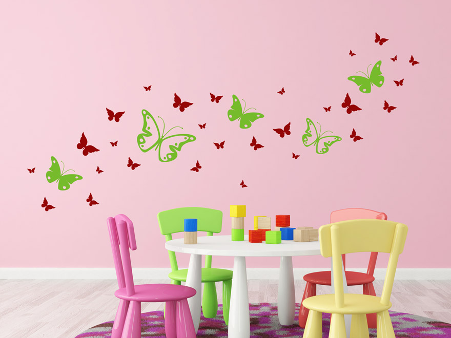 schmetterling wandtattoo kinderzimmer prinsenvanderaa. Black Bedroom Furniture Sets. Home Design Ideas