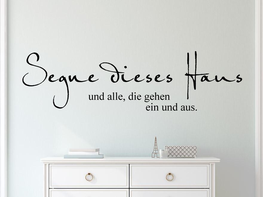 Wandtattoo Haussegen Spruch von wandtattoo.net